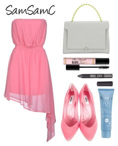 """""""# 140 ♡"""" by samchoo ❤ liked on Polyvore featuring Noshua, Moschino, Anya Hindmarch, Too Faced Cosmetics, Topshop and Thalgo"""