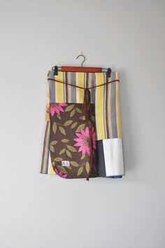Boho Patchwork Winter Wrap in Sunset/Upcycled by RebirthRecycling
