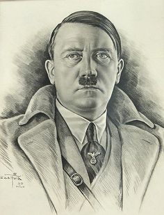 Flawless pencil drawing of Adolf Hitler Ww2 Pictures, Historical Pictures, War Tattoo, Nazi Propaganda, Military Drawings, Germany Ww2, The Third Reich, Luftwaffe, Military Art
