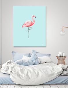 Discover «FLAMINGO MANNEQUIN», Limited Edition Canvas Print by Jonas Loose - From 69€ - Curioos