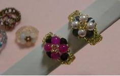 ビーズを、6コ→4コに変更してもできます。 Projects To Try, Stud Earrings, Handmade, Jewelry, Design, Diy Kid Jewelry, Hand Made, Jewlery, Jewerly