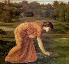 The March Marigold by Sir Edward Burne-Jones :: artmagick.com.