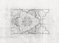 Larameeee (plusarchitekt:   Plan of Sant'Ivo alla Sapienza in...)