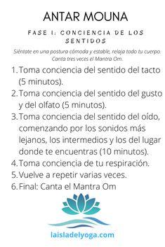 En este enlace encontrarás una práctica de la fase I de Antar Mouna: Conciencia en los sentidos. Mantra, Meditation, Yoga, Interior, Deep, Indoor, Interieur, Interiors, Christian Meditation