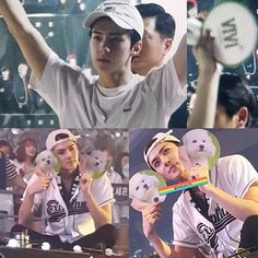 Proud dad of vivi  he collected vivi fan and take them home maybe he will show it to vivi  How cute  160731 -  #sehun #ohsehun #oohsehun