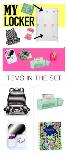 """My locker// back to school"" by fashionwithpeyton ❤ liked on Polyvore featuring art, BackToSchool, mylocker and lockerdecor"