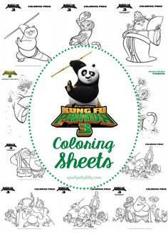 Kung Fu Panda 3 Printable Coloring Pages And Activity Sheets