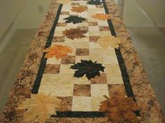 Quilted Table Runner Autumn Leaves. $125.00, via Etsy.