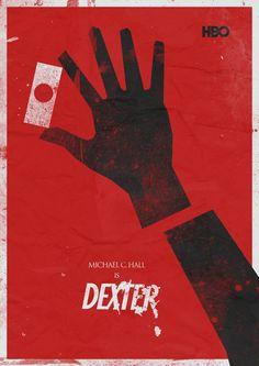 Dexter (2006–2013) ~ Minimal TV Series Poster by Stefano Reves