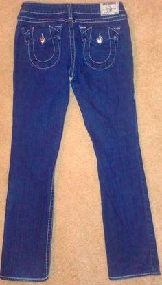 Hurry, 6 Watchers #TrueReligion Billy Jeans Women's SZ 30 Flap Pockets Straight Buckle http://www.ebay.com/itm/-/291337699930?roken=cUgayN&soutkn=NdcUgu #shoppingproblems #newjeans