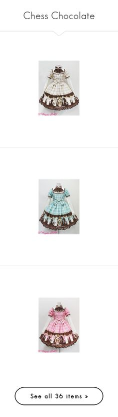 """""""Chess Chocolate"""" by galacticpeanut ❤ liked on Polyvore featuring lolita, dresses, angelic pretty, op, chess chocolate, jsk, lacy dress, chocolate brown lace dress, green lace dress and green dress"""