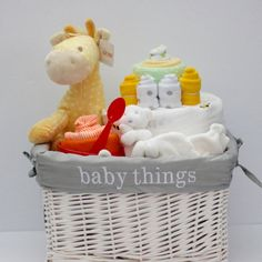 Baby Shower Gift Basket Gender Neutral Shea Moisture Pampers Giraffe Girl  Boy | Baby Shower Gift Basket, Gender Neutral And Themed Baby Showers
