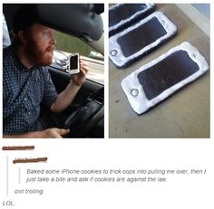I need to do this …… but it's legal to text and drive where I live so ……