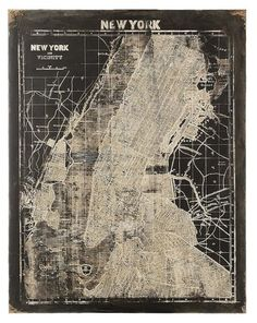 Map of New York Wall Art - Unframed Art - Wall Decor - Home Decor | HomeDecorators.com