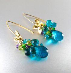 1 paire Charme Éblouissant Boucles d/'oreille rainbow glitter paillettes Dangle Boucles d/'Oreilles Pendantes Cadeau