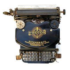 Antique 1922 Protos Typewriter Rare German Made by TheAntikeyChop, $299.95