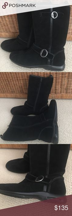 """Waterproof boots with Nike Air technology Worn once. 11"""" tall from heel Cole Haan Shoes Winter & Rain Boots"""