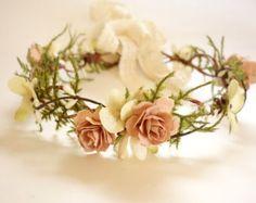 Bridal Flower Crown Blush Wedding Dried Flower Crown Flower