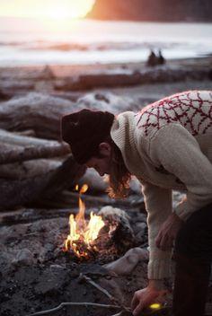 . Beach fire