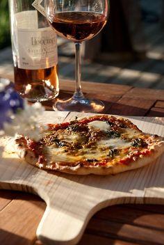 Wine  Pizza :)