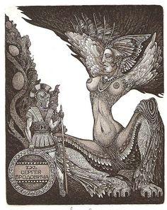 Le Bibliomane Moderne: L'ex-libris galant et érotique (ex-eroticis dans le jargon des collectionneurs) Deuxième partie. Par le Vicomte Kouyakov.