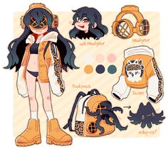 been working on a lot of custom and refsheets decided to clean up this baby and finish her refsheet im not sure if you guys would want more human design. Fantasy Character Design, Character Drawing, Character Concept, Character Inspiration, Arte Do Kawaii, Kawaii Art, Cute Art Styles, Cartoon Art Styles, Art Drawings Sketches