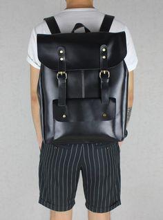 Handmade Leather Backpack / Leather Satchel / Travel Bag