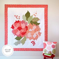 Blushing Blooms Quilt Kit Featuring Summer Blush by Sedef Imer from Down Grapevine LaneFinished Size : 64 x CottonKit includes all of the fabrics from the Summer Blush fabric range to create the quilt top and bindingBlushing Blooms Pattern by Sedef Imer Blush, Half Square Triangles, How To Make Notes, Mini Quilts, Quilt Top, Floral Fabric, Digital Pattern, Quilting Projects, Quilting Ideas