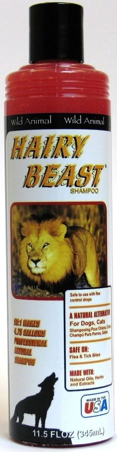 Wild Animal Hairy Beast Pet Shampoo 12oz KE803612 * Details can be found by clicking on the image. (This is an affiliate link and I receive a commission for the sales)
