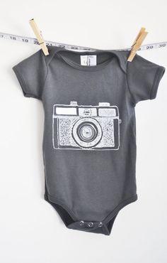 baby clothes baby onesie holga camera yellow by littleleestudios, $16.00