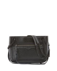 Avery Saffiano Leather Shoulder Bag, Black by Rebecca Minkoff at Neiman Marcus.