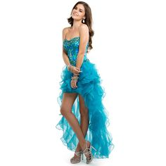 Shop for prom and formal dresses at PromGirl. Formal dresses for prom, homecoming party dresses, special occasion dresses, designer prom gowns. High Low Prom Dresses, Homecoming Dresses, Strapless Dress Formal, Dress Prom, Homecoming Ideas, A Line Evening Dress, Evening Dresses, Ball Dresses, Ball Gowns