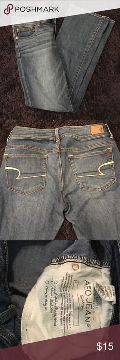 "American Eagle stretch jeans American Eagle ""Kick Boot"" stretch jeans American Eagle Outfitters Jeans Boot Cut"