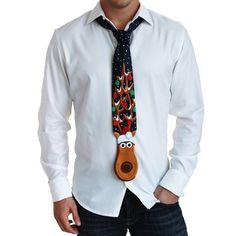 """On the fifth day of Christmas…  It would be easier to just hang a sign that says """"I've given up.""""  Reindeer necktie."""