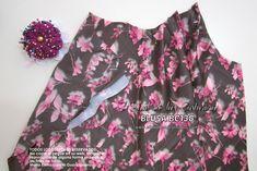 Patrón de costura gratis e instrucciones de confección Blusa cuello halter. Aplicar vistas delanteras Sewing Tutorials, Sewing Projects, Fashion Sewing, Floral Tops, Men Casual, Blouse, Mens Tops, Clothes, House Design