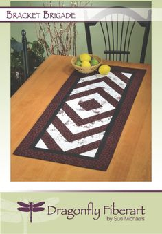Make this fun runner in an afternoon using half square triangles.