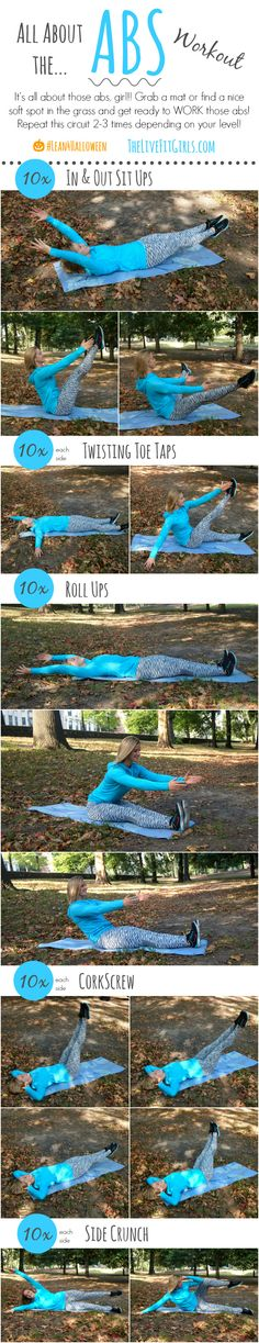Try this abs workout outside in the park while the weather is still great!
