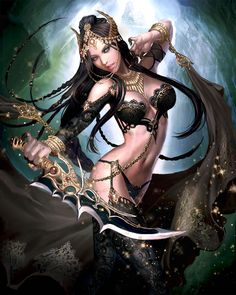 Alcina the Ego , by Yan Can , Card illustration for Reign of Dragons , Lore http://reignofdragons.wikia.com/wiki/Alcina_the_Ego