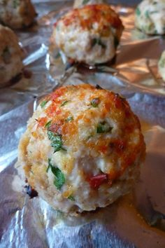 Chicken Parm Meatballs - Quick Chicken Recipes - chefrecipesmagazi......made these into chicken burger sliders.......great recipe
