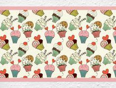 Cupcake Bordüre für die Küche