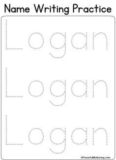 Custom Printables - FREE letter tracing printable, super easy to change words and many different fonts/writing styles available, very easy to use!!