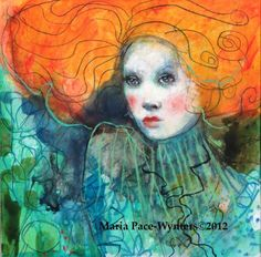 The Redhead Is Dreaming, painting by artist Maria Pace-Wynters