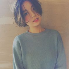 Pin on 試してみたいこと Pin on 試してみたいこと Cut My Hair, New Hair, Girl Short Hair, Short Hair Cuts, Hair Inspo, Hair Inspiration, Korean Short Hair, Shot Hair Styles, Hair Images
