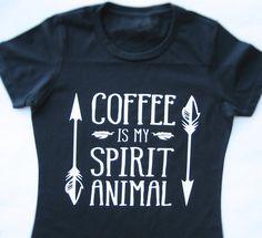 Coffee Is My Spirit Animal T-Shirt, Funny t-shirt, Coffee lovers shirt, Coffee…