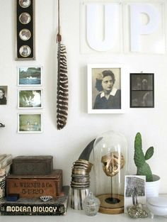 Love the turkey feather and cow horn.