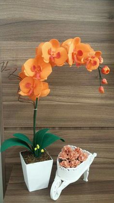 Orchid Flower Arrangements, Orchid Planters, Orchid Centerpieces, Ikebana Flower Arrangement, Nylon Flowers, Felt Flowers, Dried Flowers, Paper Flowers, Indoor Flowers