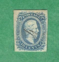 Civil War CSA Confederate Postage Stamp 10 Cent with Jefferson Davis | eBay
