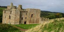 Crichton Castle south of Edinburgh, home of James Hepburn Earl of Bothwell, third husband of Mary Queen of Scots. Taken 10 October 2008