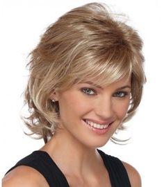 ANGELA by Estetica Designs - Medium Layered Hair, Short Hair With Layers, Short Hair Cuts, Curly Short, Medium Curly, Short Shag, Soft Layers, Medium Blonde, Hair Medium
