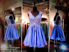 This dress is a top fashion statement, from its beautiful color, v neck, and a buttoned back, and it's at Rsvp Prom and Pageant, your source of the HOTTEST Prom and Pageant Dresses!